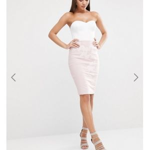 ASOS LIPSY LONDON Bandeau Cut Out Dress With Strap
